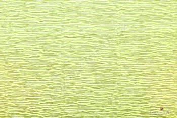 Krepový papír role 50cm x 2,5m - sv. zelená 558