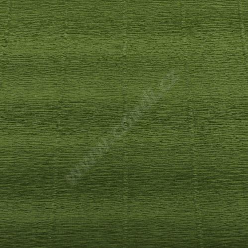Krepový papír role 50cm x 2,5m - zelený 622