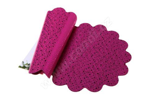 Ronda 30cm metal růžová kolečka 2/2 50ks