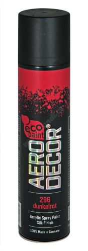 Barva ve spreji 400ml AERO DECOR - tmavě červená 296
