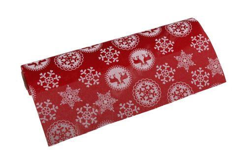 Vánoční polyjutová role 28cm x 3m AJ1604 2-červená
