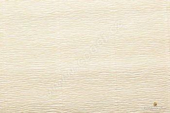 Krepový papír role 50cm x 2,5m - krémová 577