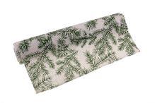 Role látková vánoční s větvičkou 28cm x 3m AJ1550 12-přírodní/zelená