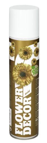 Barva ve spreji na živé květiny 400ml FLOWER DECOR - zlatá 10051