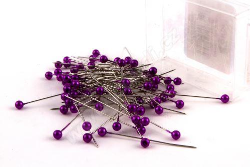 Dekorační špendlík do klopy 55mm fialový