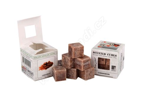 Vonný vosk do aromalamp - cinnamon, 8ks vonných kostiček (skořice)