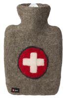 Termofor Hugo Frosch Classic s plstěným obalem ze 100 % ovčí vlny merino – kříž