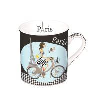 Mini hrnek Cyklisté Paříž