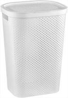 Curver Koš na špinavé prádlo INFINITY 59L bílý puntíky