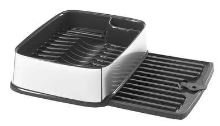 Curver odkapávač obdélníkový na nádobí, stříbrný