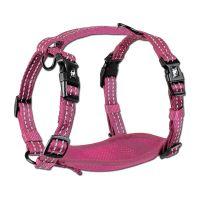 Alcott reflexní postroj pro psy, růžový, velikost M