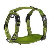 Alcott reflexní postroj pro psy, zelený, velikost M