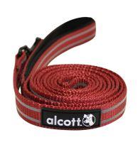 Alcott reflexní vodítko pro psy, červené, velikost S
