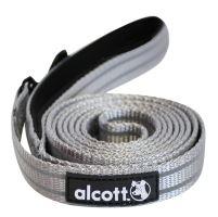 Alcott reflexní vodítko pro psy, šedé, velikost S