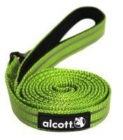 Alcott reflexní vodítko pro psy, zelené, velikost L