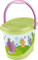 Keeeper Koš na pleny karol, Hippo, zelený