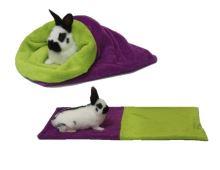 Marysa pelíšek 3v1 pro hlodavce, fialový/světle zelený
