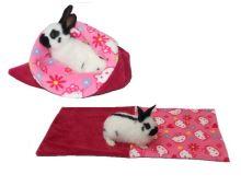 Marysa pelíšek 3v1 pro hlodavce, fuchsiový/růžové kočky