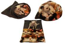 Marysa pelíšek 3v1 pro štěňátka/koťátka, šedý/kočka