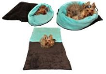 Marysa pelíšek 3v1 pro psy, tmavě šedý/tyrkysový, velikost XL