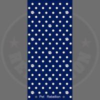 PET REBELLION Běhoun, puntíkovaný modrý, 45x100cm